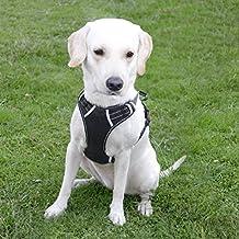 Menkar Arnés para perro, sin tirones, arnés para perro de gama frontal, ajustable, al aire libre, chaleco para mascotas, reflectante 3M, chaleco Oxford para perros, fácil control, para perros grandes