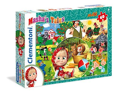 Clementoni- Masha's Tales Supercolor Puzzle Maxi, 60 Pezzi, 26422