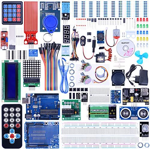 Quimat UNOR3 Progetto Completo Kit Starter per Arduino con Tutorial, Scheda di Sviluppo R3, Scheda...
