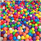 Pack de 50pcs /100pcs bolas, multicolor, diámetro de 5.5cm/ 7 cm ,Marinas Juguete de los Niños Pelotas de Colores para Piscina Bolas de Plástico en Parque Infantil Regalo para Niños Bebé (Color al azar) (5.5CM, 100pcs bolas)