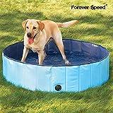 Forever Speed Hundepool Doggy Pool Swimming Pool Badewanne Pool Planschbecken für Hunde (160×30CM, Blau)