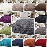 HomebyHome Shaggy Hochflor Langflor Einfarbig Günstig Teppich für Wohnzimmer mit Oeke Tex Zertifiziert 14 Farben und 17 Grössen, Farbe:Beige, Größe:300x400 cm