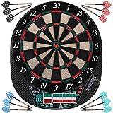 Physionics Elektronisches Dartboard mit LED-Anzeige für bis zu 16 Mitspieler