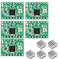 UKCOCO 5pcs Reprap Stepper Driver A4988 Driver del motore passo-passo dissipatore di calore per stampante 3D