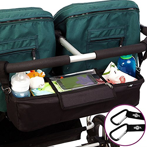 Kinderwagen-Organiser für Zwillilngskinderwagen