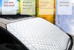 Couverture Pare-brise Voiture MATCC Bache Pare Brise Pare-soleil Anti Givre Compatible avec La Plupart des Véhicule Universel Vans Monospace Magasin en ligne