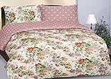 Aadya-Completo matrimonio de 100% satén de algodón 210TC, diseño vintage de flores, con funda nórdica reversible y fundas