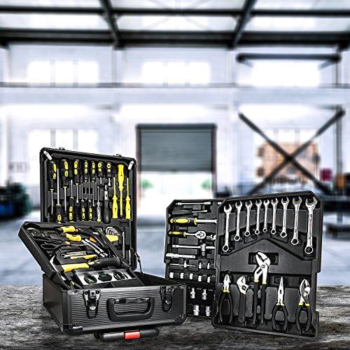 Daimann TL01 Set Professionale 285 Attrezzi Utensili In Acciaio con Trolley Valigia con 4 Cassetti...