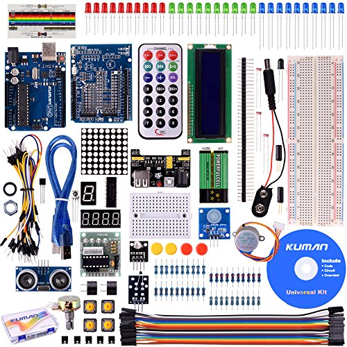 Siamo a disposizione per qualsiasi informazione aggiuntiva. Contenuto della confezione: (1). Kuman UNO R3 development boardx1(2). USB cable x1(3). Prototype extension board x1(4). Mini breadboard x1(5). 5V stepper motor x1(6). 2003 stepper mo...