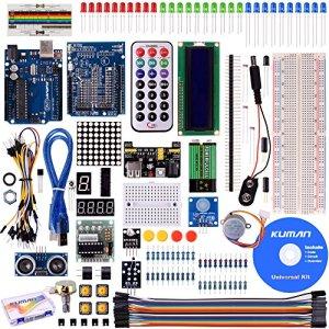 61Lgt4OFZnL - Kuman Más Completo y Avanzado de Arduino Mega Starter Kit para Arduino Uno-R3 con Guías Tutorial Detallada, MEGA2560, Mega328,5V Motor Paso a Paso, Kit Arduino con Placa