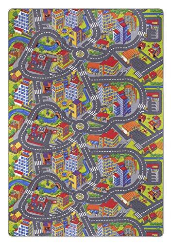 misento Tappeto 293307per Bambini, Motivo: Mappa Stradale, Dimensioni: 200x 300cm