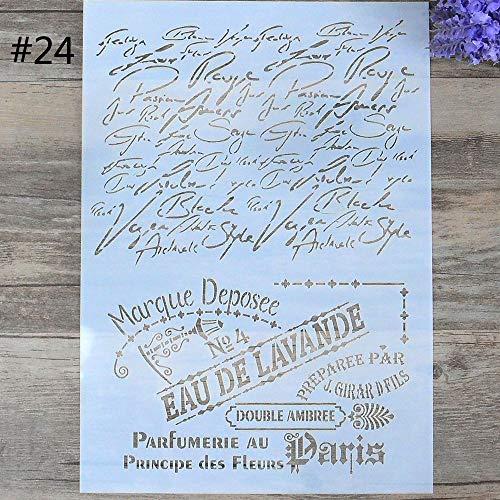 learol-CA DIY Craft Plantillas de Capas para Paredes, Pintura, álbumes de Recortes, Sellos de estampación, álbum Decorativo de Repujado Plantilla de Tarjeta de Papel