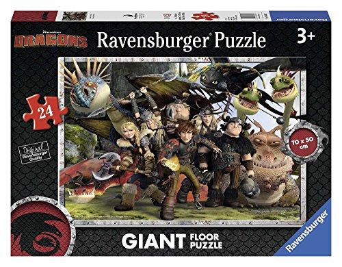 Ravensburger 05436 - Dragons Giant Floor Puzzle, 24 Pezzi