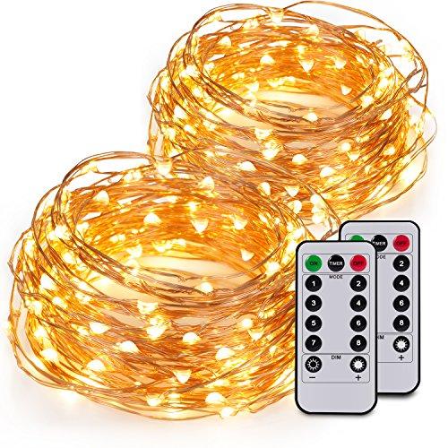Kohree 2 Pezzi Stringhe Luminose a Luci LED con Telecomando Catene luminose da 6M con 60 LED Filo di...