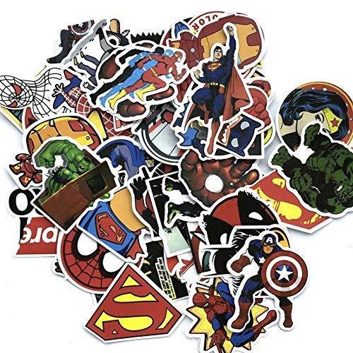 Rapidotzz Waterproof Graffiti Stickers to Personalize Laptops, Skateboards, Luggage, Cars, Bumpers, Bikes Laptop (Super Heroes)