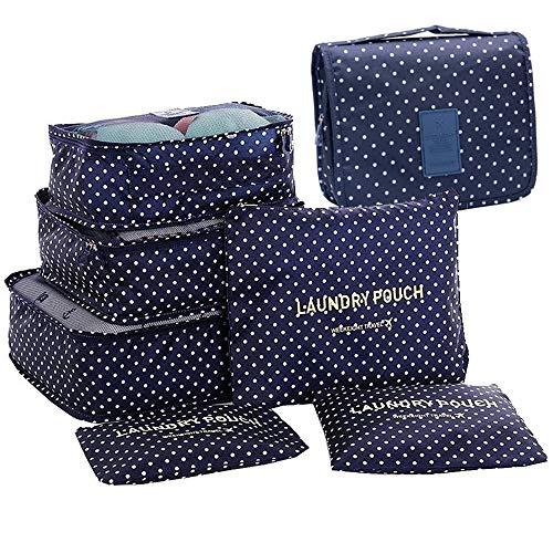 GCBTECH Set di 7 Set di Organizer per Valigie Borsoni Abiti per Viaggio, Compressione Sacchetti Bag...