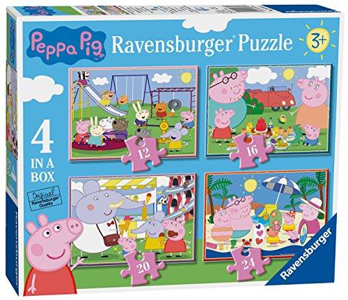 Ravensburger Peppa Pig 4Puzzle in Una Scatola (12, 16, 20, 24PC)