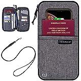 Portefeuille De Voyage avec Blocage RFID Et Portefeuille De Passeport Familial (Gris)
