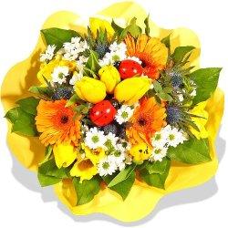 """floristikvergleich.de Blumenstrauß Blumenversand Frühling """"Frühlingserwachen"""" +Gratis Grußkarte+Wunschtermin+Frischhaltemittel+Geschenkverpackung"""