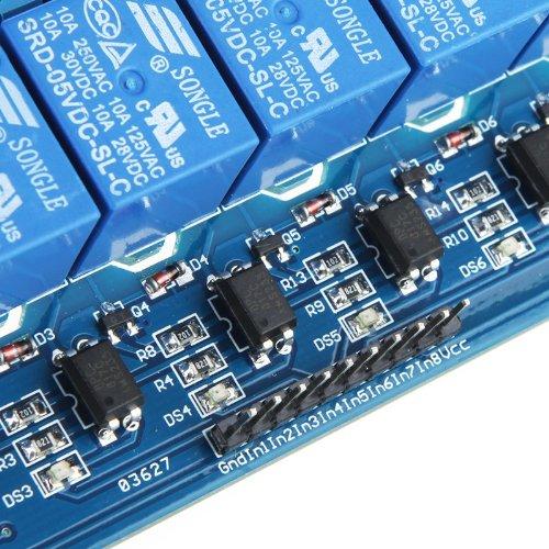 61PGiwZB48L - Kkmoon 8-CH Placa del módulo de relé de 8 Canales (5V)