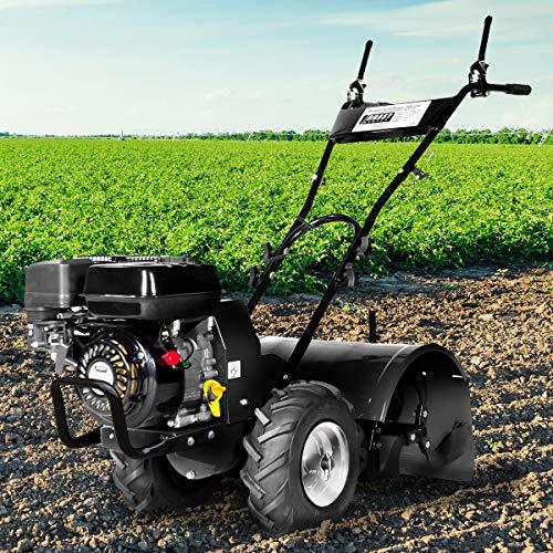 BRAST Benzin Gartenfräse 5,15kW(7,0PS) Selbstantrieb 50cm Fräsbreite 212ccm TÜV geprüft Motorhacke Ackerfräse Bodenfräse
