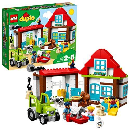 LEGO Duplo 10869 - Visitiamo la Fattoria Set di Costruzioni per Bambini 2-5 Anni, un Idea Regalo per...