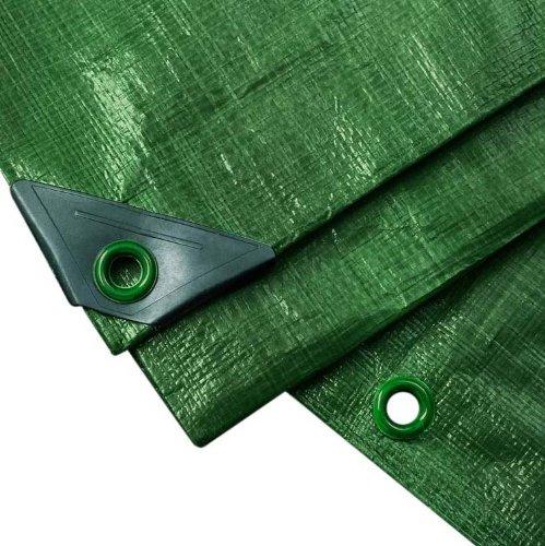 NOOR Abdeckplane PROFI 140g/m² Grün I 2 x 3 m I Allzweckplane für Schutz vor Witterung I Ideal geeignet für Gartenbereich I UV-stabilisiert, beidseitig beschichtet, wasserfest und abwaschbar