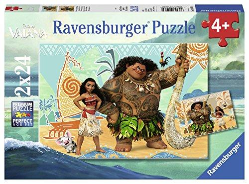 Ravensburger Italy Disney Vaiana Puzzle da 2x24 Pezzi, 09156