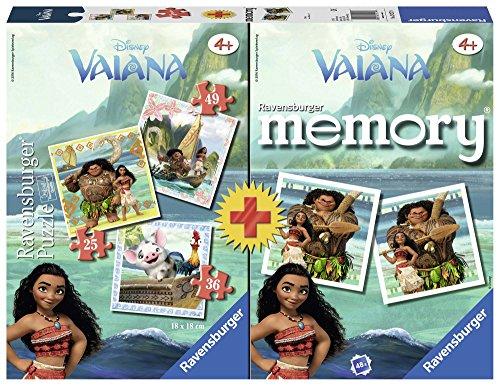 Ravensburger Italy 3 Puzzle e Memory Vaiana Disney, 21272