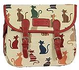 Bolso tapiz de hombro de moda Signare para mujer bolso messenger Gato descarado