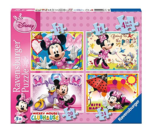 Ravensburger - 07255 2 - Minnie. Puzzle 4 in A Box