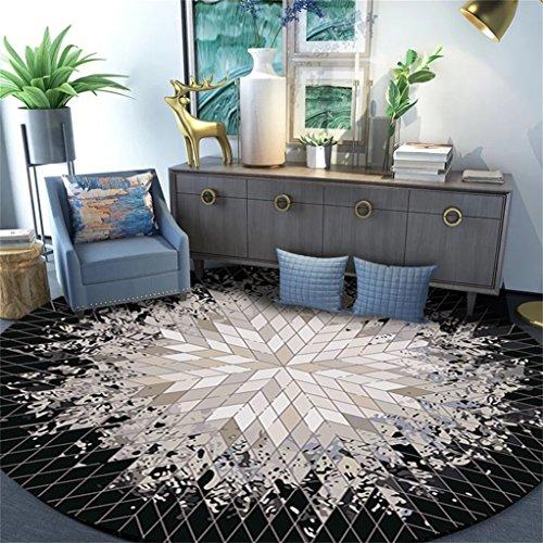 LIYUZHEN Alto qualità Home Tappeto Circolare Linee contemporanee Soft Living Dining Room Tappeto...