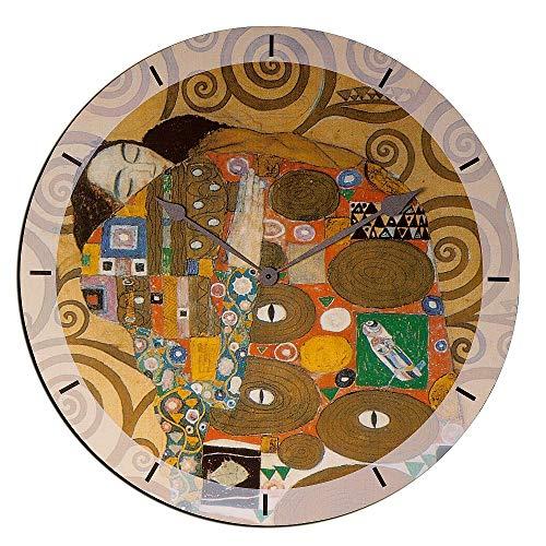 Artopweb Klimt Embrace Orologio da Parete, Legno