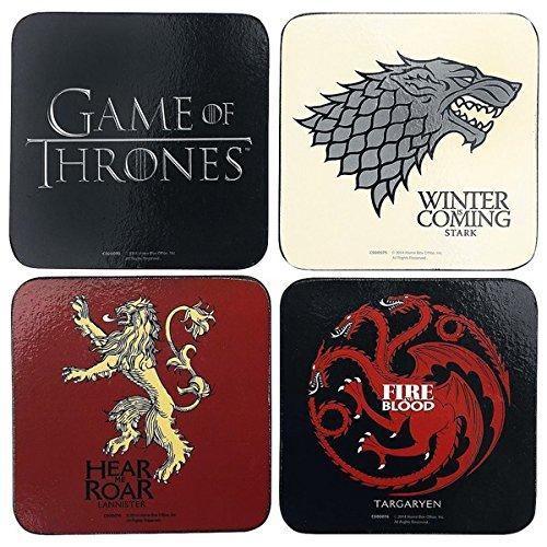 Game Of Thrones - Juego de posavasos (Talla Única/Multicolor)