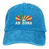 Gorra Cactus Vintage Arizona Unisex Ajustable Azul Eléctrico