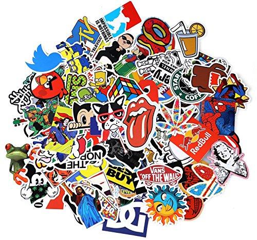 Neuleben Sticker Pack 100-Pcs Adesivi Stickers Vinili per Computer Portatile, Bambini, Automobili,...