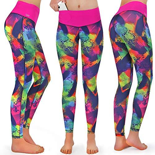 Formbelt® - Pantalón Largo de Running con Bolsillo integrada para Teléfonos Móviles, Leggings Deportivo para Mujeres Riñonera Llaves Gimnasio Mujer Jogging Correr Escalada o Yoga |Brazil XS