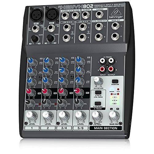 Behringer Xenyx 802 - Mezclador para DJ, color negro