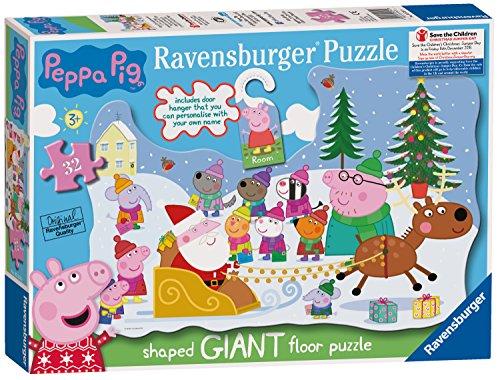 Ravensburger UK 5534Peppa Pig Puzzle di Natale con Porta Appendiabiti