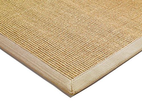 Asiatic Tappeto soggiorno Carpet classico Design BORDERED SISAL RUG 100% Sisal mit Bordüre Cotone...