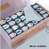 Saco nórdico CON relleno BEACH MARINO para cama 90 x 190/200 + 1 funda de almohada. Saco unido a la bajera con cremallera. Con relleno nórdico.