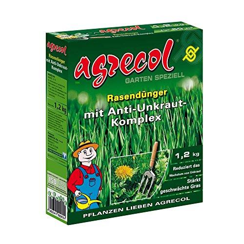 Abono para césped prémium con herbicida contra las malas hierbas, altamente eficiente, 1,2kg para superficies de 60m² de césped