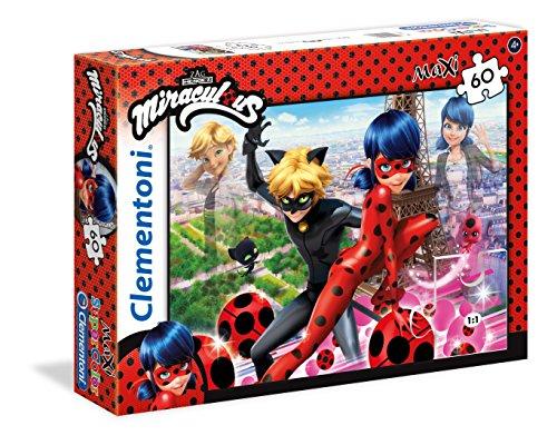 Clementoni - 26427 - Supercolor Puzzle - Miraculous Ladybug - 60 Maxi Pezzi