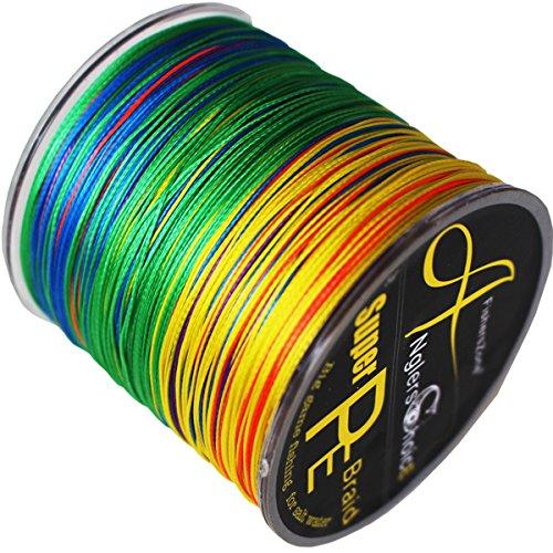 8-fach geflochtene Angelschnur 300 m Multi-color. Japan PE braided line in verschiedenen Stärken 20lbs