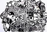120 Stücke Aufkleber Schwarz-Weiß Graffiti Decals Bumper Stickers für Auto, Skateboard, Reisekoffer, Motorräder, Fahrräder, Boote, Laptop, Skatboard und auf glatte Oberflächen
