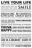 Poster Live your Life - Lebe dein Leben - Mottos und Sprüche - Größe 61 x 91,5 cm - Maxiposter