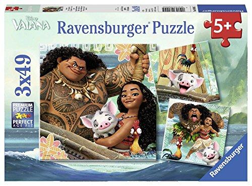 Ravensburger Italy Puzzle Vaiana Oceania, 3 x 49 Pezzi 08004 5