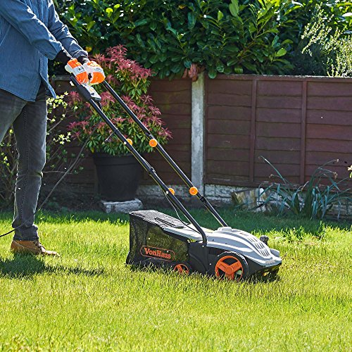 VonHaus 2 in 1 Lawn Scarifier - 1500W Electric Garden Lawn Rake with 4 Working Depths & 10m Power Cable