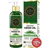 Morpheme Remedies Pure Organic Neem Oil ColdPressed Oil for Hair & Skin - 120ml