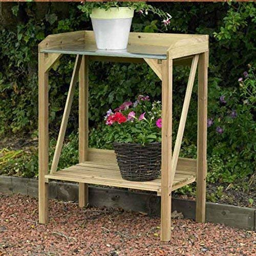 The cheapest model in our list, this HomeZone Garden Mile® Wooden Garden Potting Bench is ideal for when space is limited or for infrequent use.